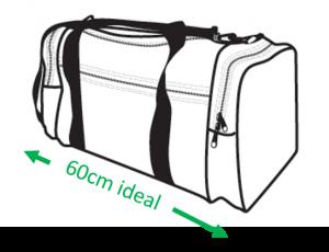 Gym bag length