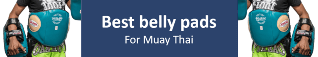 Best Muay Thai belly pad